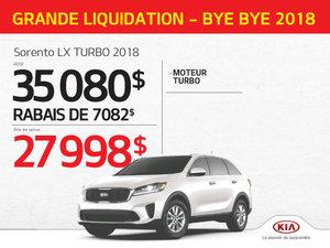 Achetez le Sorento LX TURBO 2018