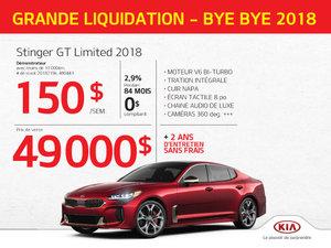 Achetez l'incroyable STINGER GT LIMITÉE 2018