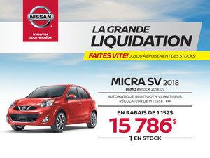 MICRA SV 2018 démos