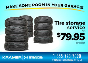 Tire Storage! from Kramer Mazda