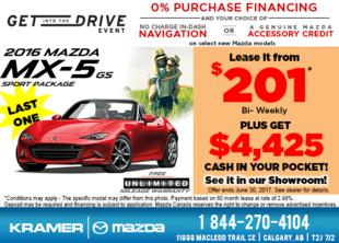 Drive Home in the 2016 Mazda MX-5 GS Today! from Kramer Mazda