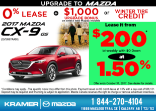 Get the All-New 2017 Mazda CX-9 GS Today! from Kramer Mazda