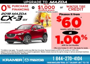 Get the 2018 Mazda CX-3 GX now! from Kramer Mazda