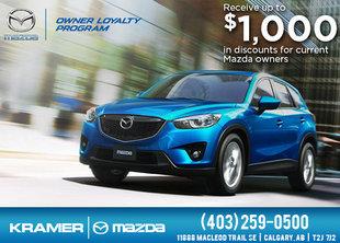 Mazda Owners Loyalty Program from Kramer Mazda