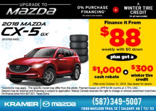 Save Big on the 2018 Mazda CX-5 GX! from Kramer Mazda
