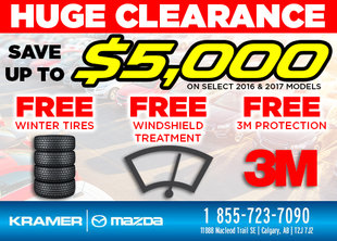 Save up to $5 from Kramer Mazda