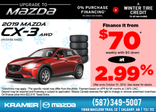 Get the 2019 Mazda CX-3 AWD now! from Kramer Mazda