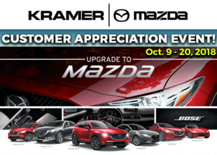 Join us for our Customer Appreciation Event Oct 9-20 from Kramer Mazda