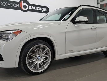 BMW X1 2015 XDrive35i, cuir rouge, toit panoramique, navigatio