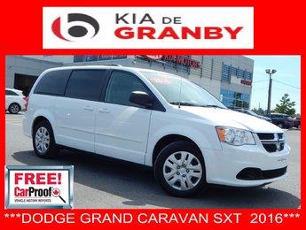 Dodge Grand Caravan 2016 SXT***STOWNGO+3 ZONES
