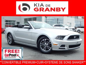 Ford Mustang convertible 2014 V6 Premium***AUTO+CUIR+SHAKER***