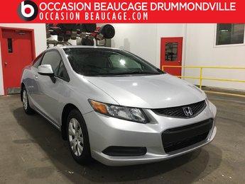 Honda Civic Coupe 2012 LX - MANUELLE - A/C - BAS MILLAGE!!