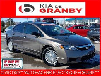 Honda Civic Sdn 2010 DX-G***AUTO+AC+CRUISE+GR ÉLECTRIQUE***
