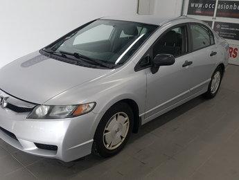 Honda Civic Sdn 2010 DX-G, A/C, régulateur, jamais accidenté