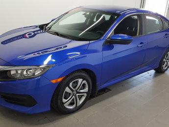 Honda Civic Sedan 2017 LX, caméra recul, bluetooth, régulateur
