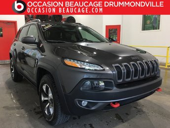 Jeep Cherokee 2016 V6 - TRAILHAWK 4X4 - CUIR ET TISSUS + DÉMARREUR!!