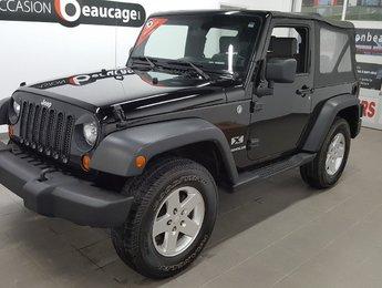 Jeep Wrangler 2008 X, toit souple, manuel