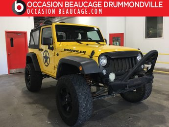 Jeep Wrangler 2015 SPORT 4X4 - MANUEL - HITCH + MAGS!