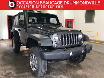 Jeep Wrangler 2016 SPORT A/C 4X4 - MANUELLE - HITCH + MAGS!