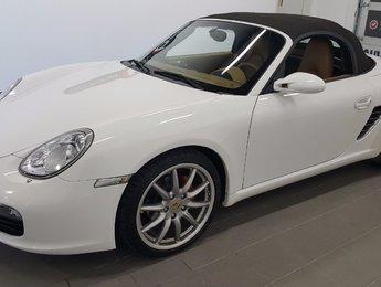 Porsche Boxster 2008 Convertible, cuir tan, mags Porsche sport design