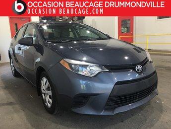 Toyota Corolla 2014 LE - A/C - CAMÉRA - JAMAIS ACCIDENTÉ!!