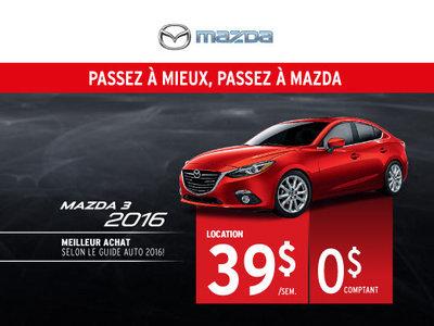 Louez la nouvelle Mazda3 2016