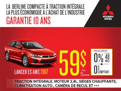 Mitsubishi Lancer ES 2017 en rabais !