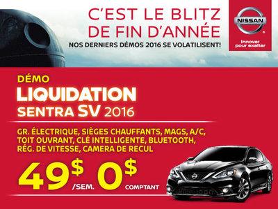 Nissan Sentra SV 2016 chez Drummondville