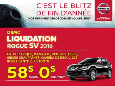 Nissan Rogue 2016 chez Drummondville