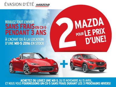 2 Mazda pour le prix d'une!