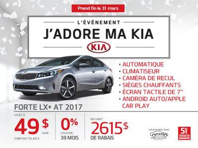 La Kia Forte LX + 2017