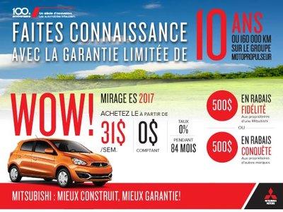 Mitsubishi Mirage ES 2017 en rabais