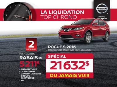La liquidation top chrono de Nissan - Rogue S 2016