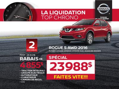 La liquidation top chrono de Nissan - Rogue S AWD 2016