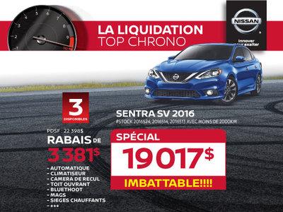 La liquidation top chrono de Nissan  - Sentra SV 2016