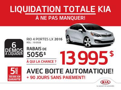 Kia Rio 4 portes LX 2016
