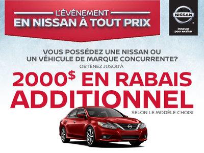 Propriétaire d'une autre marque? Nissan a une offre pour vous!