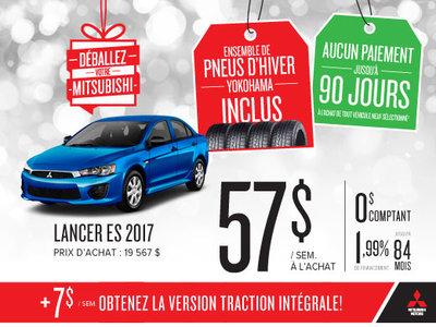 Mitsubishi Lancer ES 2017 en rabais!