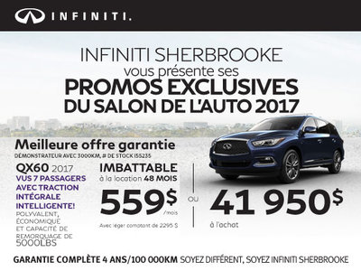 Le Infiniti QX60 2017 en rabais