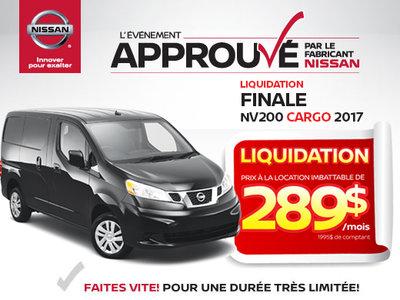 Liquidation extrême NV200 2017