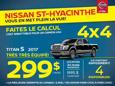 Nissan Titan S 2017 St-Hyacinthe