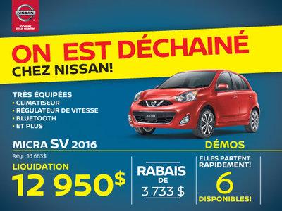 La Nissan Micra SV 2016 Granby