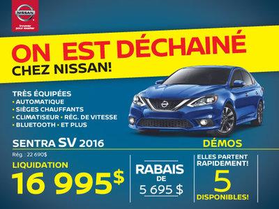 La Nissan Sentra SV 2016 Granby