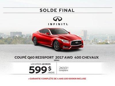 Dernier appel...Solde sur le Coupé Q60 AWD 2017