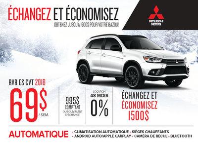 Mitsubishi RVR 2018 échangez et économisez