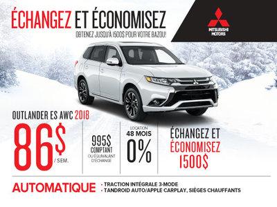 Mitsubishi Outlander 2018 échangez et économisez