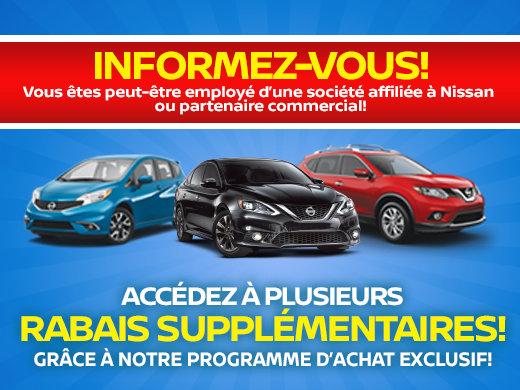 Programme d'achat exclusif pour employés Nissan
