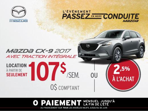 Louez la Mazda CX-9 2017