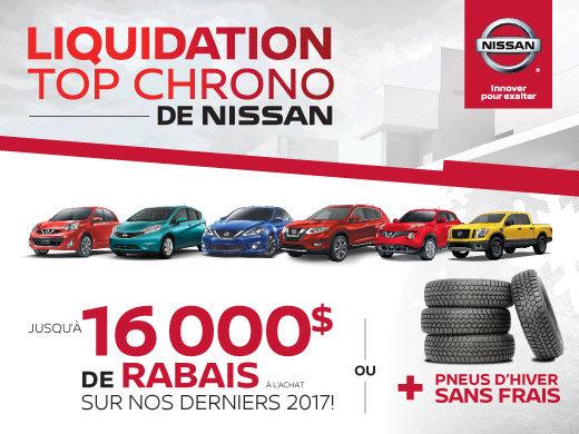 Liquidation top chrono de Nissan!