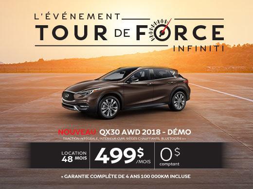 Le tout nouveau QX30 AWD 2018 démo